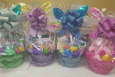 Christian Pre-filled Easter Basket pink green purple or blue  | Home & Garden, Holiday & Seasonal Décor, Easter & Spring | eBay!