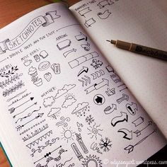Doodles and sketches Planner Doodles, Sketch Notes, Bullet Journal Inspiration, Smash Book, Journal Pages, Banners, How To Draw Hands, Sketch Drawing, Photo Instagram
