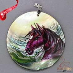 FASHION NECKLACE HAND PAINTED HORSE SHELL PENDANT ZL3004995 #ZL #Pendant