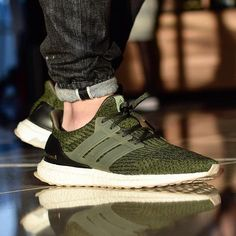 61be10cad5c Adidas Ultra Boost Night Cargo Olive Green Size 13 ltd tan gum sole trace