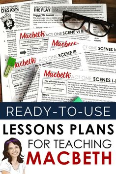 Lessons, activities, and assessments for teaching Macbeth. This bundle is full of options for you to choose as you engage your students in the study of Macbeth. Middle School Ela, Middle School English, Physical Activities, Learning Activities, Secondary Teacher, English Activities, English Lessons, High School Students, English Teachers