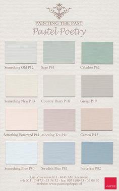 Deze mooie ruste pastelachtige kleuren zijn van 'Painting the past'