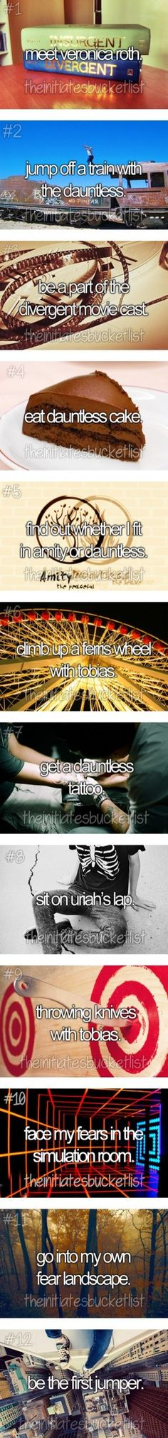 The Divergent Bucket List Part 1 by thehungergamesclique  liked on Polyvore