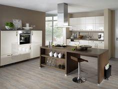 Pictures of Kitchens - Modern - Two-Tone Kitchen Cabinets Two Tone Kitchen Cabinets, Kitchen Cabinet Colors, Kitchen Cabinetry, Wood Cabinets, Updated Kitchen, New Kitchen, White Wash Wood Floors, Dalle Pvc, Grey Vinyl Flooring