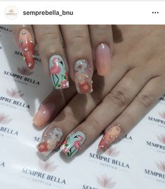 Flamingos by Pamela Cristina Nails, Painting, Beauty, Finger Nails, Manicure, Fingernail Designs, Ongles, Painting Art, Paintings