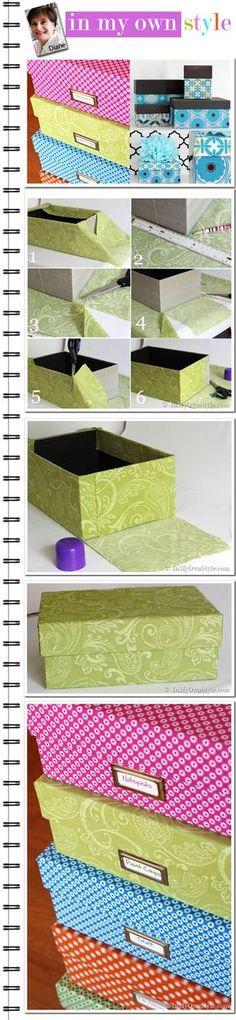 Como cobrir uma caixa com tecido
