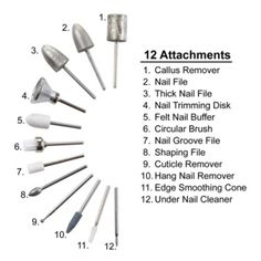 III Nail Care System () be careful if using this tool---I gouged and damaged my nails first time out. For now, I may just use the buffer-- Acrylic Nail Drill, Acrylic Nails At Home, Acrylic Nail Supplies, Home Nail Salon, Nail Salon Decor, Privates Nagelstudio, Nail Tech School, Nail Remover, Nail Techniques