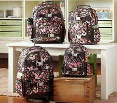 I love the Mackenzie Chocolate Floral Backpacks on potterybarnkids.com