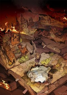dessin Demizu Posuka mangaka The Promised Neverland. Fantasy World, Fantasy Art, Anime Scenery, Fantasy Landscape, Art Studies, Neverland, Unique Art, Art Inspo, Comic Art