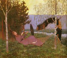 "Thomas Theodor Heine ( German, 1867–1948), ""The Hammock"" (1892)"