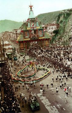 Hong Kong Dragon Dancers-celebration for Coronation of King George 5th-1937