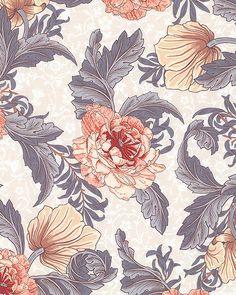 Morris - Spring Floral Grace - Almond