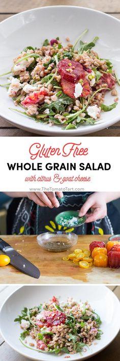 Gluten Free Whole Grain Salad with Citrus from www.thetomatotart.com