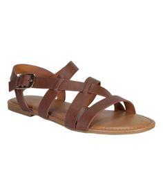 Loving this Chestnut Bayside Sandal on #zulily! #zulilyfinds