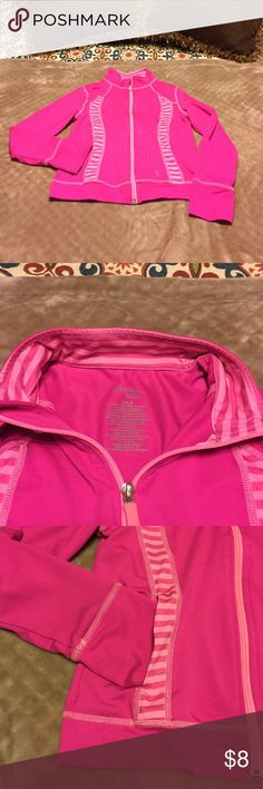 EUC Girls Size 7/8 Danskin Dry-Fit Sports Jacket Cute Girls Size Medium (7/8) Danskin Dry-Fit Sports Jacket w/pockets and thumb holes! See photos! Excellent used condition with little to no signs of fading or wear. From smoke free, pet free and odor free home. BUNDLE & SAVE! Danskin Jackets & Coats