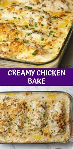 All but one thing is Creamy Chicken Breast Recipes, Recipe Using Chicken Breasts, Creamy Chicken Bake, Baked Chicken Breast, Baking Frozen Chicken, Frozen Chicken Recipes, Baked Chicken Recipes, Keto Chicken, Chicken Tenderloin Recipes