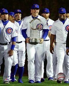 Anthony Rizzo leads the team onto the field with the 2016 World Series trophy before the home opening game at Wrigley Field on April 2017 Photo Print x Cubs Players, Cubs Team, Baseball Players, Cubs Wallpaper, Chicago Cubs World Series, Cubs Win, Chicago Cubs Baseball, Baseball Pictures, Mlb Teams