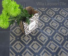 Manhattan Pattern Decorative Cement Tile, Exclusively From Villa Lagoon Tile