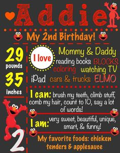 Fiesta de cumpleaños de Elmo 2 cumpleaños de por CraftonCrafters
