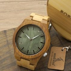 BOBO BIRD 2016 New Arrival Men's Bamboo Wood Wristwatch Ghost Eyes Genuine Leather Strap Glow Analog Watches with Gift Box Just look, that`s outstanding!  #shop #beauty #Woman's fashion #Products #Watch