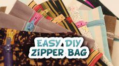 DIY 5 Minute Zipper Bag {EASY} - Whitney Sews