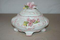schöne alte Porzellan Bonboniere - Deckel-Dose - Rose - Blume - ca. 18 x 18 cm | eBay