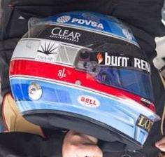 Nicolas Prost 2014 helmet on right look