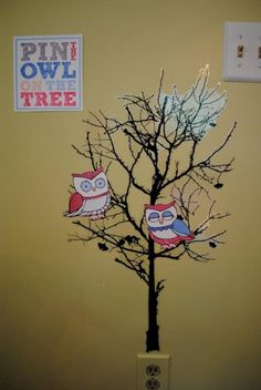 Party game for owl theme