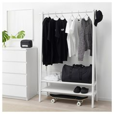 IKEA offers everything from living room furniture to mattresses and bedroom furniture so that you can design your life at home. Check out our furniture and home furnishings! Closet Ikea, Ikea Closet Organizer, Closet Organization, Coat Rack Ikea, Ikea Rack, Bedroom Storage, Bedroom Decor, Wall Decor, Home Decor Ideas