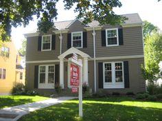 gray house white trim - Google Search
