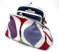 I love the designer look of these purses! Great Gifts For Women, White Clutch, Large Purses, Coin Purse Wallet, Envelope Clutch, Royal Blue, Coins, My Etsy Shop, Purple