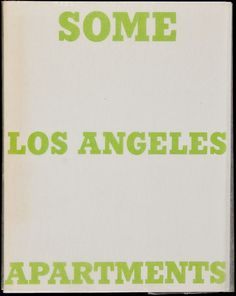 Cover of Some Los Angeles Apartments, 1 of 700 copies, third artist book by Ed Ruscha, 1965