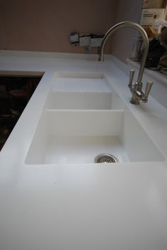 Dupont corian solid surface countertops with seamless - Corian bathroom sinks and countertops ...