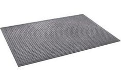 "Heavyweight Indoor Entrance Mat 3/8"" Thick 48"" X 72"" Gray by APACHE MILLS INC.. $60.95. Heavyweight Entrance Matting Heavy-duty, reinforced matting scrapes debris from shoes and withstands heavy commercial traffic. Double border edge traps dirt and water to protect floors and prevent slipping. Made from a rugged, fast drying blended fiber to dry quickly, resist fading and stains, and last for years indoors. It's backed with a reinforcing heavy-duty rubber to grip floors with..."