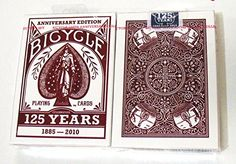 Bicycle 125th Anniversary Edition Deck Red (Discontinued) Playing Cards -1 Red Deck Bicycle http://www.amazon.com/dp/B003F32NC2/ref=cm_sw_r_pi_dp_rScQvb1TRBE45
