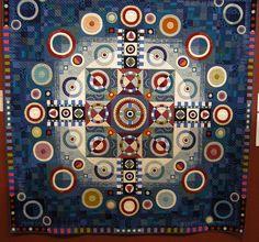 """Circle"" by Noriko Masui, 2013 Tokyo International Quilt Festival.  Photo by Queenie's Needlework"