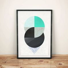 Geometric Wall Art Abstract Art Digital por WildMoonriseDesigns