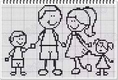 28 Cross Stitch Family, Cross Stitch Love, Counted Cross Stitch Patterns, Cross Stitch Charts, Cross Stitch Designs, Cross Stitch Embroidery, Embroidery Patterns, Stitch Doll, Graph Design