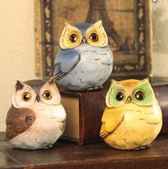 Owls Figurine Statue Owls Collectible -Set of 3 Plush Image http://www.amazon.com/dp/B00B8NQ8YK/ref=cm_sw_r_pi_dp_kFa7tb1THBD70