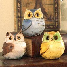 Owls Figurine Statue Owls Collectible -Set of 3 Plush Image http://www.amazon.com/dp/B00B8NQ8YK/ref=cm_sw_r_pi_dp_kFa7tb1THBD70