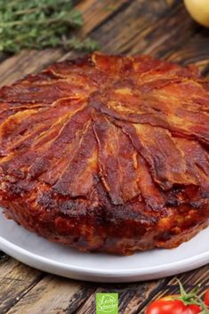 Potato and bacon tart is a recipe that will fill you with a whole pack! - Potato and bacon tart is a recipe that will fill you with a whole pack! Easy Bacon Recipes, Bacon Recipes For Dinner, Crockpot Recipes, Healthy Recipes, Grilled Bacon Wrapped Asparagus, Baked Bacon Wrapped Chicken, Bacon Appetizers, Appetizer Recipes, Crispy Bacon In Oven