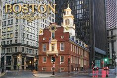 Postcard: The Old State House in Boston, MA