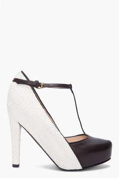 these are shoes i'd wear if i lived in a black and white world - love it #philliplim #platforms $850