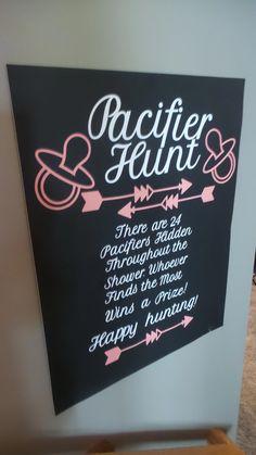 Baby Shower Game - Pacifier Hunt! #babyshowerplanning