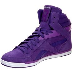Reebok Classic RHYTHMCITY MID Hightop trainers (76 AUD) ❤ liked on Polyvore featuring shoes, sneakers, zapatos, tenis, flats, purple, high-top trainers, women's footwear, leather high tops and reebok trainers