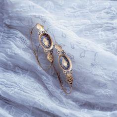 Poissardes en or et émail 19e siècle - Fragonard Parfumeur #Fragonard #bijoux #Provence
