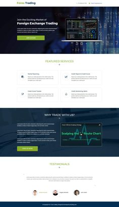 Forex Trading Responsive Landing Page With Free Landing Page Builder - oLanding