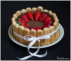Palaharam: Tiramisu Charlotte Cake