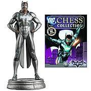 DC Superhero Batwing White Pawn Chess Piece with Magazine - http://lopso.com/interests/dc-comics/dc-superhero-batwing-white-pawn-chess-piece-with-magazine/