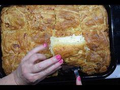 τυρόπιτα εξπρές με χωριάτικο φύλλο σε 10' cheese pie CuzinaGias - YouTube Yummy Snacks, Yummy Food, Yummy Yummy, Happy Foods, Few Ingredients, Greek Recipes, Tasty Dishes, Pork, Cooking Recipes